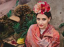 Ozdoby do vlasov - Exotická kvetinová čelenka Frida Kahlo - 9385507_