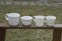 Nádoby - Madeirová porcelánová šálka na čaj (Vlnky) - 9388144_