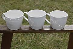 Nádoby - Veľká madeirová porcelánová šálka (Vlnky) - 9388304_