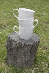 Nádoby - Veľká madeirová porcelánová šálka (Vlnky) - 9388306_