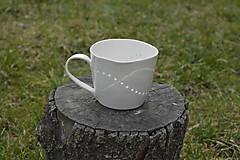 Nádoby - Veľká madeirová porcelánová šálka (Vlnky) - 9388336_