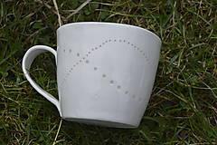 Nádoby - Veľká madeirová porcelánová šálka (Vlnky) - 9388337_