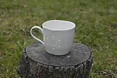 Nádoby - Veľká madeirová porcelánová šálka (Kvietok) - 9388338_