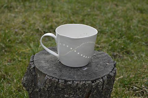 Veľká madeirová porcelánová šálka (Vlnky)