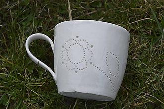 Nádoby - Veľká madeirová porcelánová šálka (Kvietok) - 9388326_