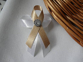 Pierka - Štrasikové zlatomedené pierko - 9389594_