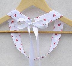 Opasky - Dámsky opasok folk červené kvety - 9387034_