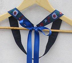 Opasky - Dámsky opasok folk modrý - 9387266_