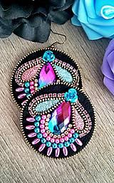 Náušnice - Purple and pink náušnice - 9389258_