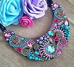 Náhrdelníky - Letný Lila náhrdelník - 9387616_