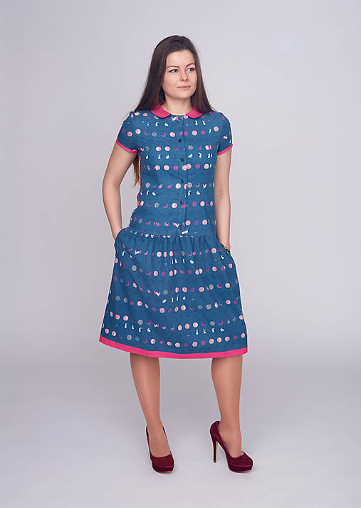Šaty - Košeľové šaty - ZĽAVA - 9394717_