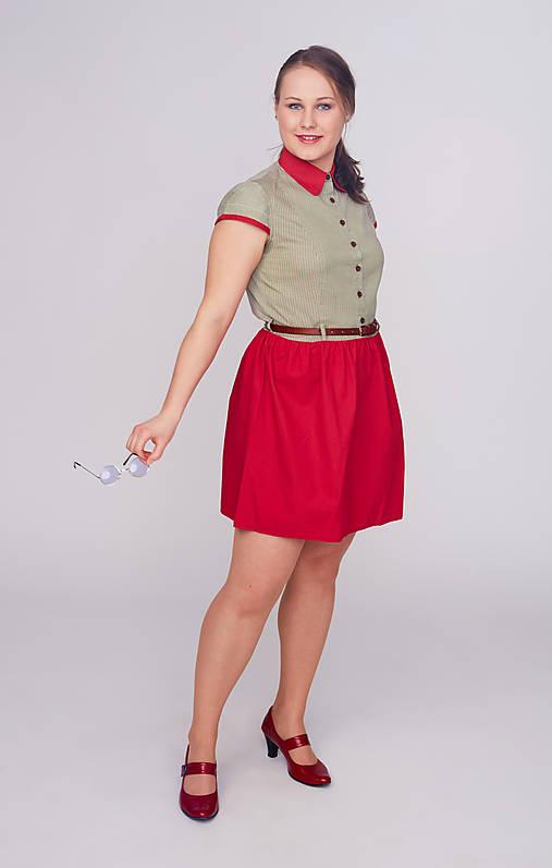 Šaty - Retro šaty košeľové - 9394770_