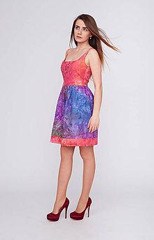 Šaty - Batikované šaty Z búrky k západu slnka - 9394762_