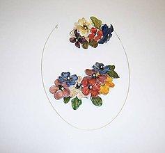 Sady šperkov - lel flowers, náhrdelník a náramok - 9391733_