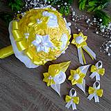 Kytica pre nevestu žlté odtiene