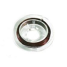 Komponenty - Oceľové lanko hnedé - 0,38mm /10m - 9392100_
