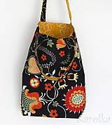Veľké tašky - Veľká, pevná, obojstranná taška - Na lúke / horčicová obojstranná - 9391565_