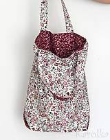 - Veľká textilná taška - Lúka / bordová - 9391636_