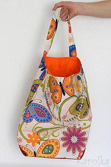 Veľké tašky - Veľká taška - Na lúke / motýle - 9391589_