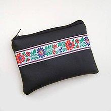 Peňaženky - Čierna peňaženka Folklór - 9394046_
