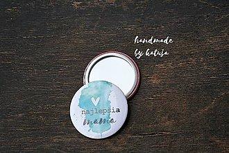 Odznaky/Brošne - zrkadielko (najlepšia mama 2) - 9392835_
