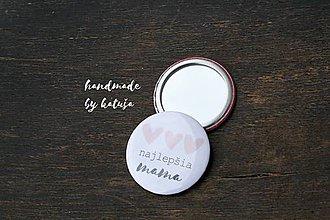 Odznaky/Brošne - zrkadielko (najlepšia mama 3) - 9392851_