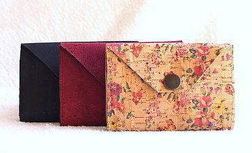 Peňaženky - Korková peňaženka mini flower - 9393418_
