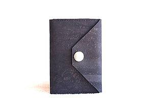 Peňaženky - Korková peňaženka mini black - 9393528_