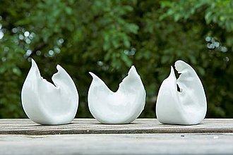 Dekorácie - vtáčik porcelánový soška - 9390588_
