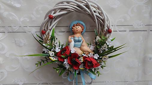 Dáma na lúke... veniec   kiflike - SAShE.sk - Handmade Dekorácie 62c41e596f6