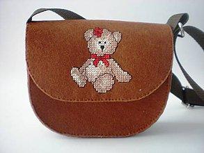 Detské tašky - Moja prvá kabelka (Macík) - 9391904_