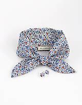 - Elegantný kvetinový set - šatka s náušničkami  (Kvetinová šatka s náušnicami) - 9390393_