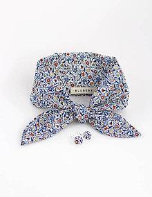 Šatky - Elegantný kvetinový set - šatka s náušničkami - 9390393_