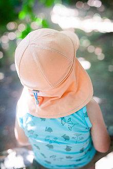 Detské čiapky - 100% merino ROSTOUCÍ KŠILTOVKA - 9392039_