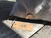 Úžitkový textil - Vankúš z ľanu - basic - 9390755_
