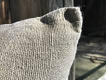 Úžitkový textil - Vankúš z ľanu - basic - 9390765_