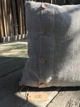 Úžitkový textil - Vankúš z ľanu - basic - 9390766_