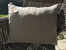 Úžitkový textil - Vankúš z ľanu - basic - 9390842_
