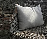 Úžitkový textil - Vankúš z ľanu - basic - 9390875_