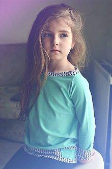 Detské oblečenie - Jarná rastúca mikina (Tyrkysová) - 9392296_