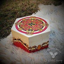 Krabičky - Stredoveká romantika, malá truhlička - 9391948_