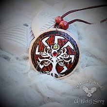 Náhrdelníky - Kolovrat a strom života, slovanský amulet - 9392386_
