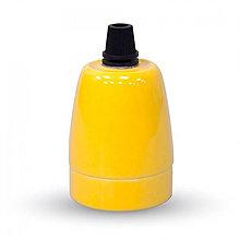 Komponenty - Porcelánová objímka E27 • žltá farba - 9393785_