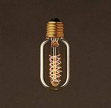 Komponenty - EDISON žiarovka – SPIRAL TUNNEL – E27, 30W, 60lm - 9393911_