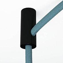 Iný materiál - Stropný decentralizér – háčik pre textilné káble v čiernej farbe - 9393955_