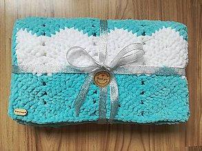 Textil - Háčkovaná detská deka nielen do kočíka - 9390497_