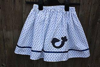 Detské oblečenie - Detská suknička s vtáčikom... - 9390339_