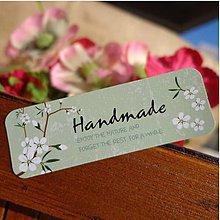 Papier - Nálepka Handmade nature (4 ks) 5 x 1,7 cm - 9392324_