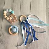 - Modrý set hryzátka a hrkáliek  (Modrá) - 9391725_