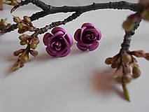 Náušnice - Náušnice - ruže - 9394031_